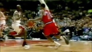 Michael Jordan Defense on Rod Strickland - 1997 1st Rd Game 1