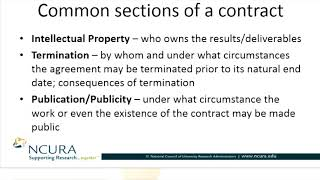 Common Sections of a  Contract Part I of II
