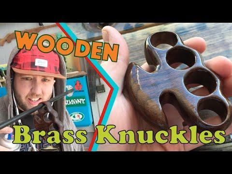 WOODEN Brass Knuckles