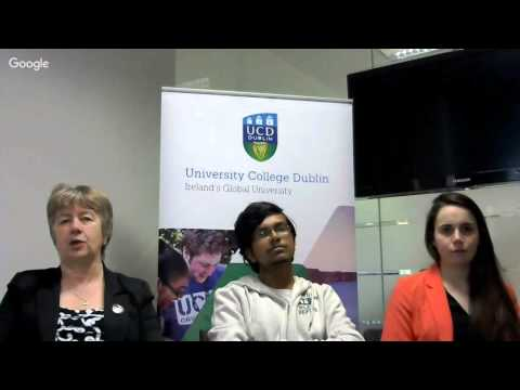 UCD Postgraduate Offer Holder Google Hangout