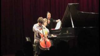 Antonio Lysy & Pascal Rogé live in NYC at Symphony Space on Sept. 2009 part 4 out of 6