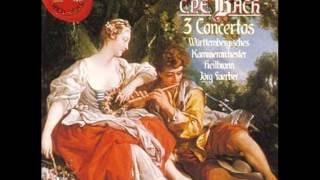 Carl Philipp Emanuel Bach, Concerto for flute H 445   Allegro di molto. James Galway (flute).
