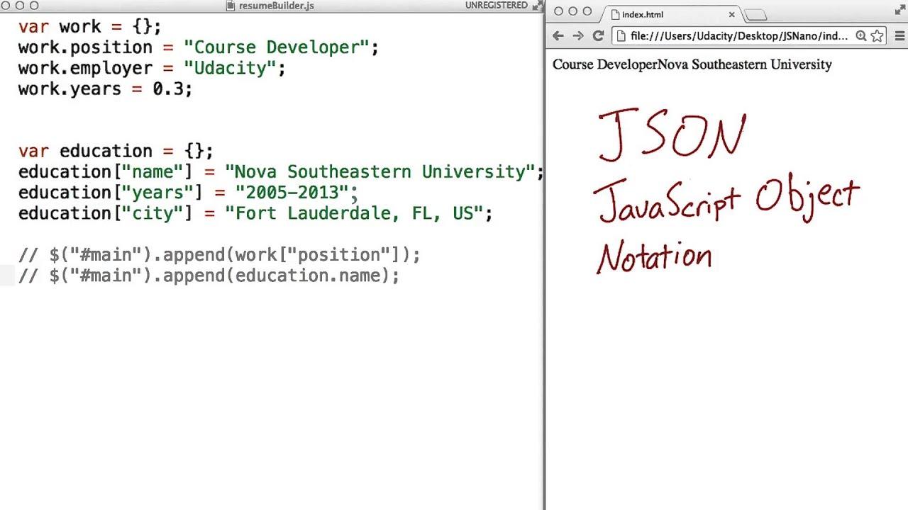 javascript download json