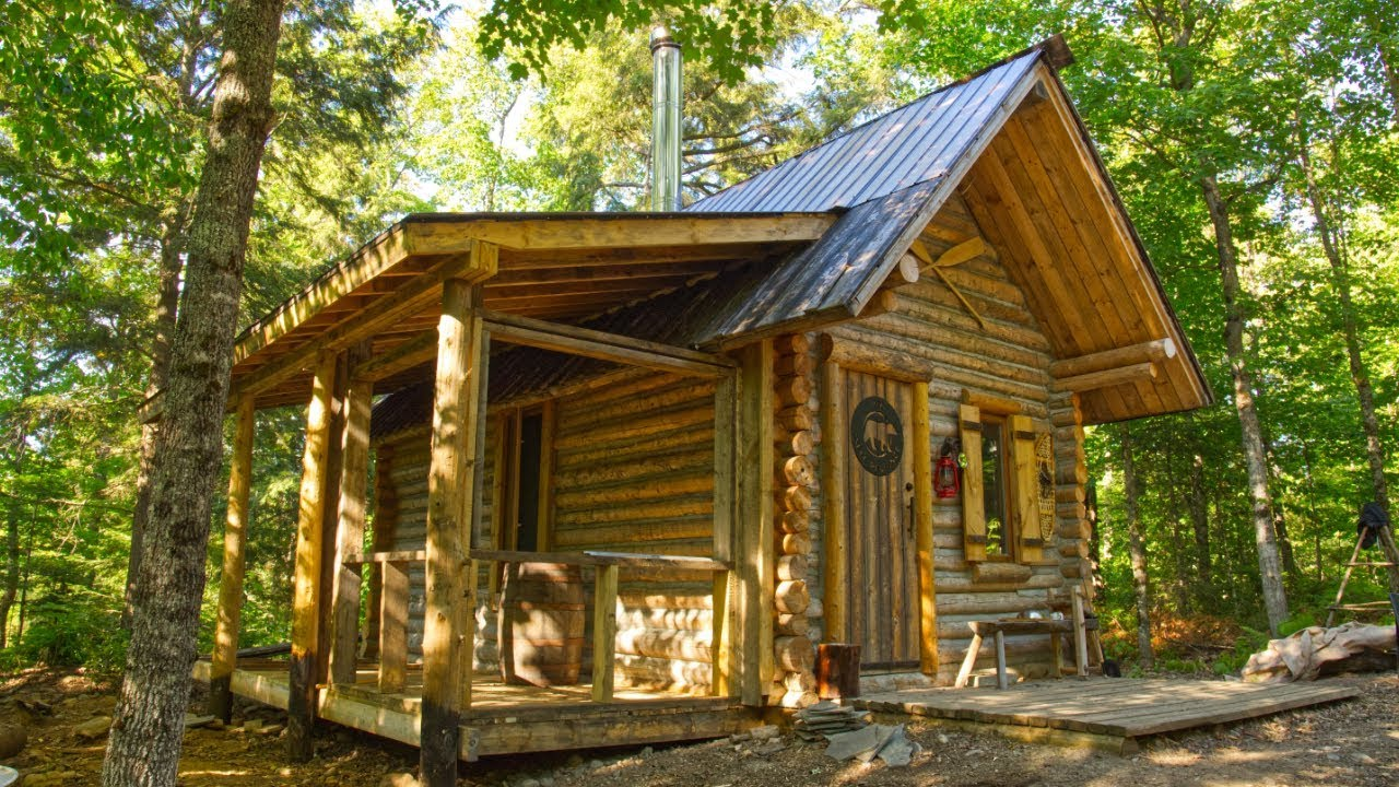 My Self Reliance The New Porch on My Off Grid Log Cabin is My Favorite Spot on the Homestead