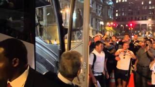 Cristiano Ronaldo Arriving At The Ritz In Philadelphia