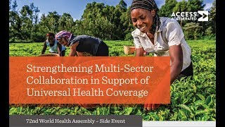 Strengthening Multi-Sector Collaboration in Support of Universal Health Coverage