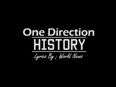 One Direction History Lyrics