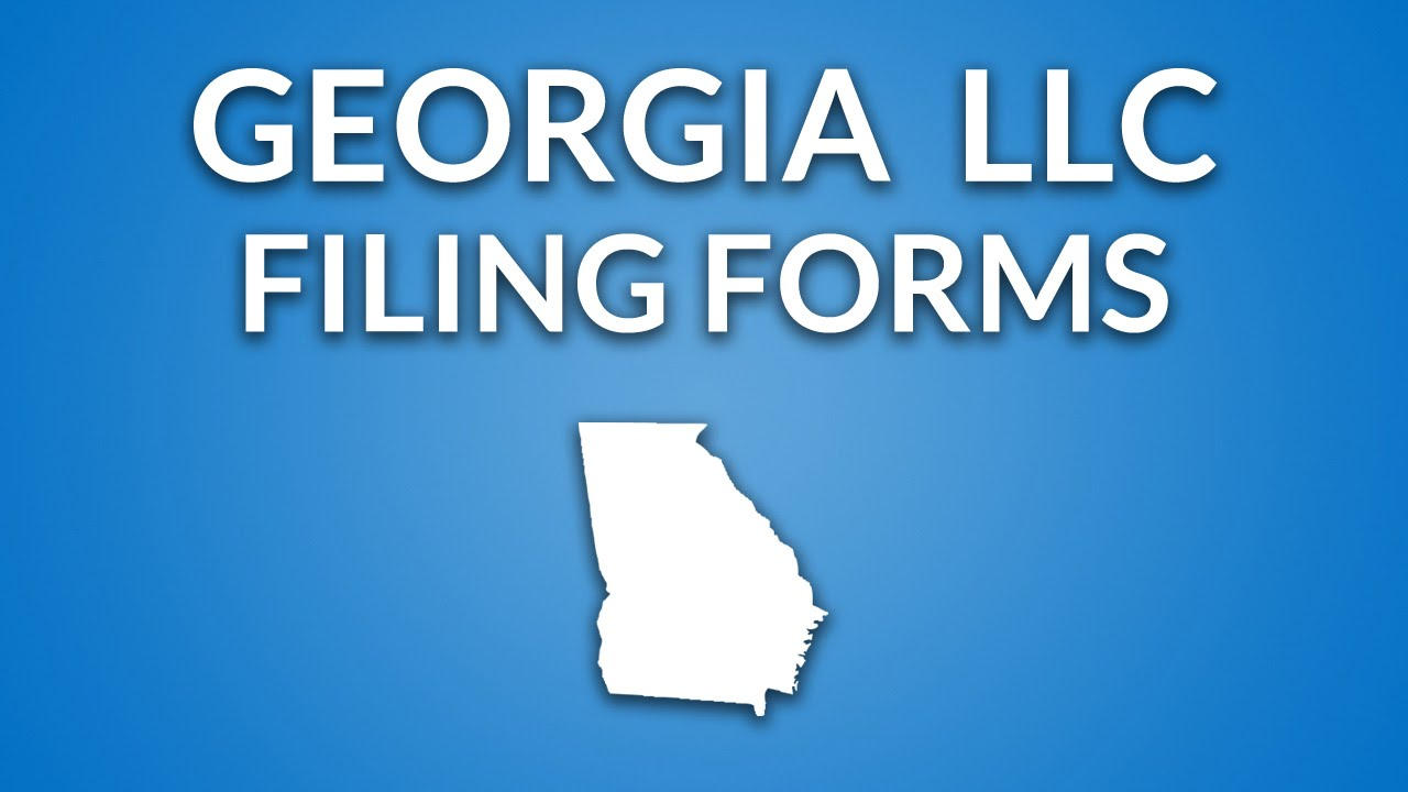 Georgia Llc Filing Forms Documents Youtube