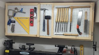 Build a Tool Cabinet with some pegboard doors for extra storage!