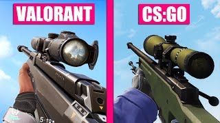 Valorant vs Counter-Strike Global Offensive - All Weapons Comparison