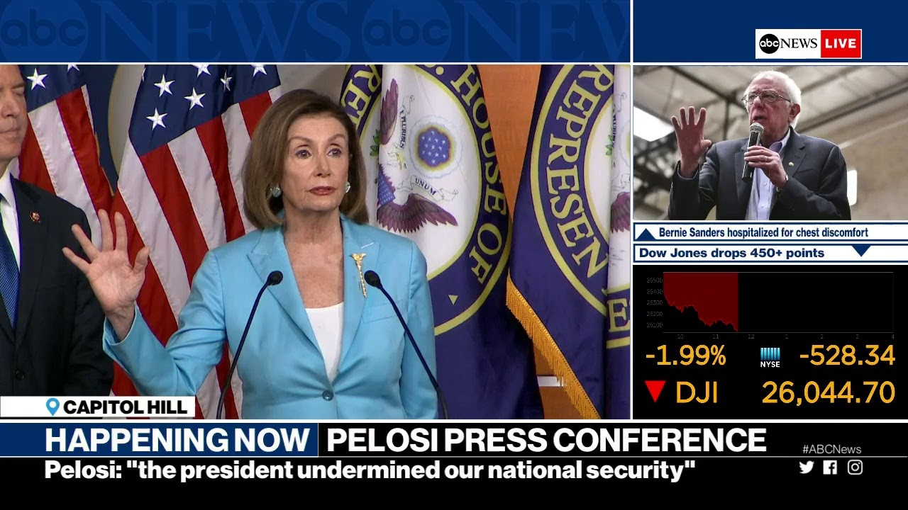 Usa News Live >> Speaker Pelosi Holds News Conference Amid Impeachment