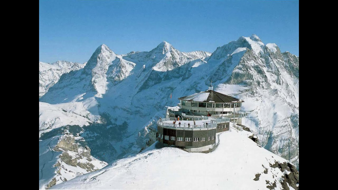 Futuristic James Bond 007 Piz Gloria Schilthorn Switzerland Youtube