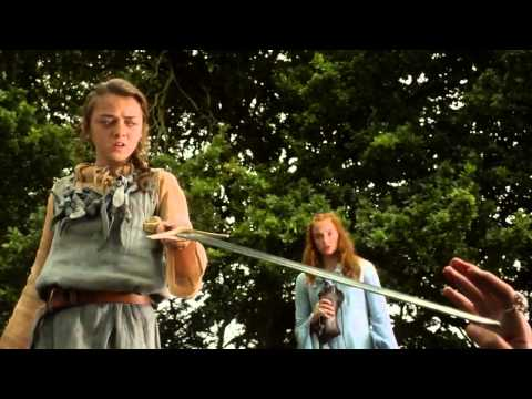 Joffrey, Arya, Sansa Direwolf and Butcher Boy Scene - Game of Thrones 1x02 (HD) streaming vf