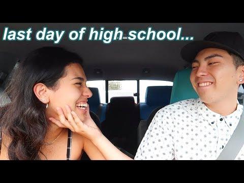 my last day of high school ever... senior year vlog :')