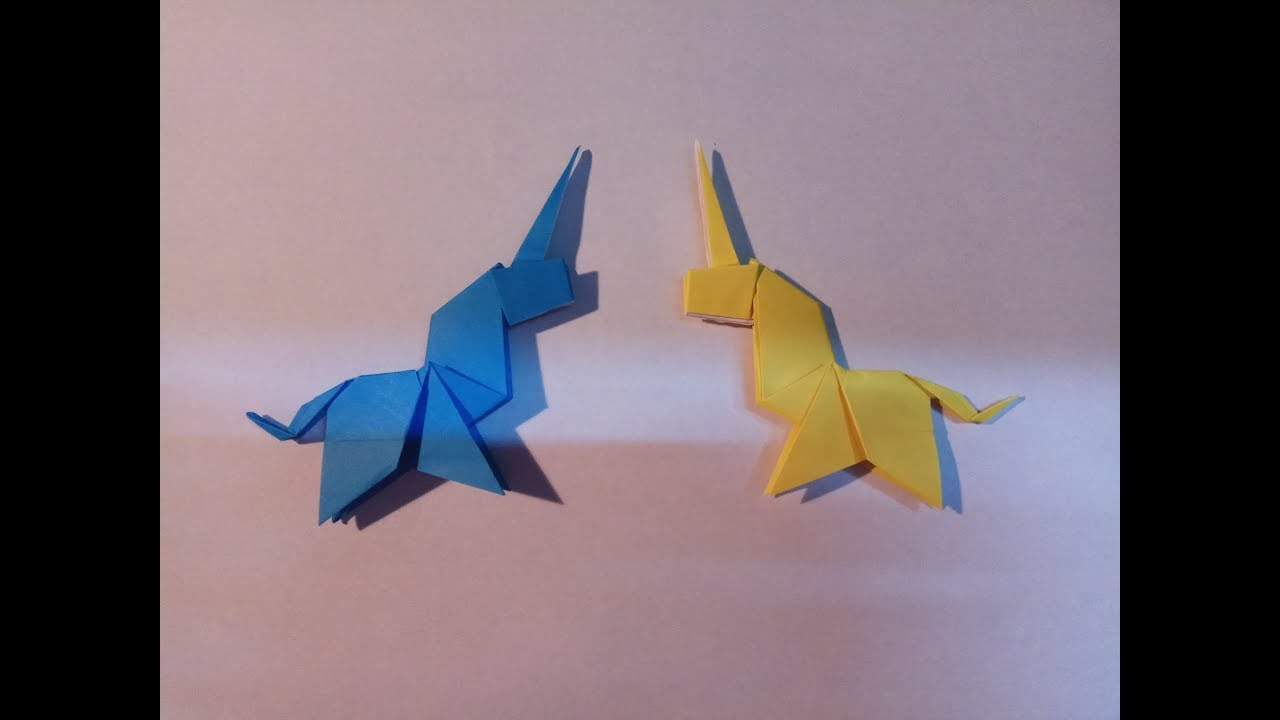 origami unicorn easy how to make unicorn easy youtube