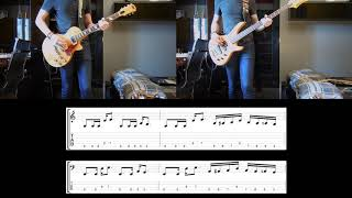 Ed Sheeran ft Chris Stapleton & Bruno Mars - Blow Guitar and Bass cover with tabs Video