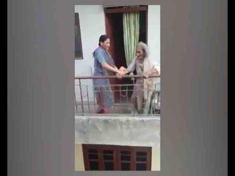 Caught On Camera: Daughter beats 85 -Year-Old mother in Delhi's Kalkaji