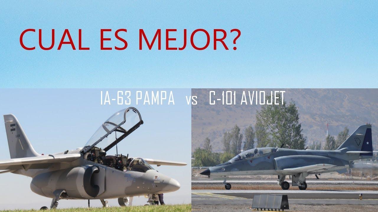 Cual es el mejor entre el IA-63 PAMPA y el C-101 Aviojet? veamos sus datos!