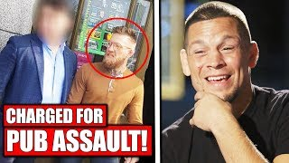 Conor McGregor CHARGED for pub assault, Dana White says Conor lost MILLIONS for Bus Mele, Nate Diaz