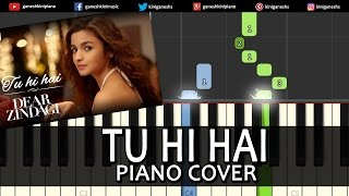 Tu Hi Hai Dear Zindagi|Shah Rukh Khan|Song|Piano Chords Tutorial Instrumental Karaoke By Ganesh Kini