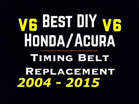 04 15 V6 Honda Acura Timing Belt Replace Accord