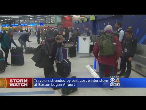 Bitter Cold Causes Flight Delays At Logan Airport
