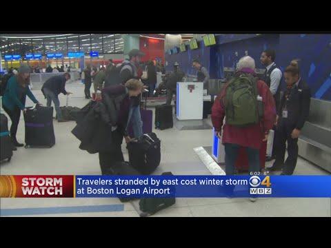 Bitter Cold Causes Flight Delays At Logan Airport