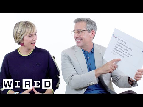 Steve Carell & Kristen Wiig Answer the Web's Most Searched Questions  WIRED