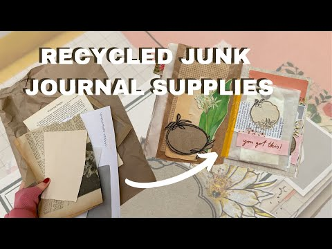 Recycled Junk Journal Supplies   What do I use in my journal? 📚