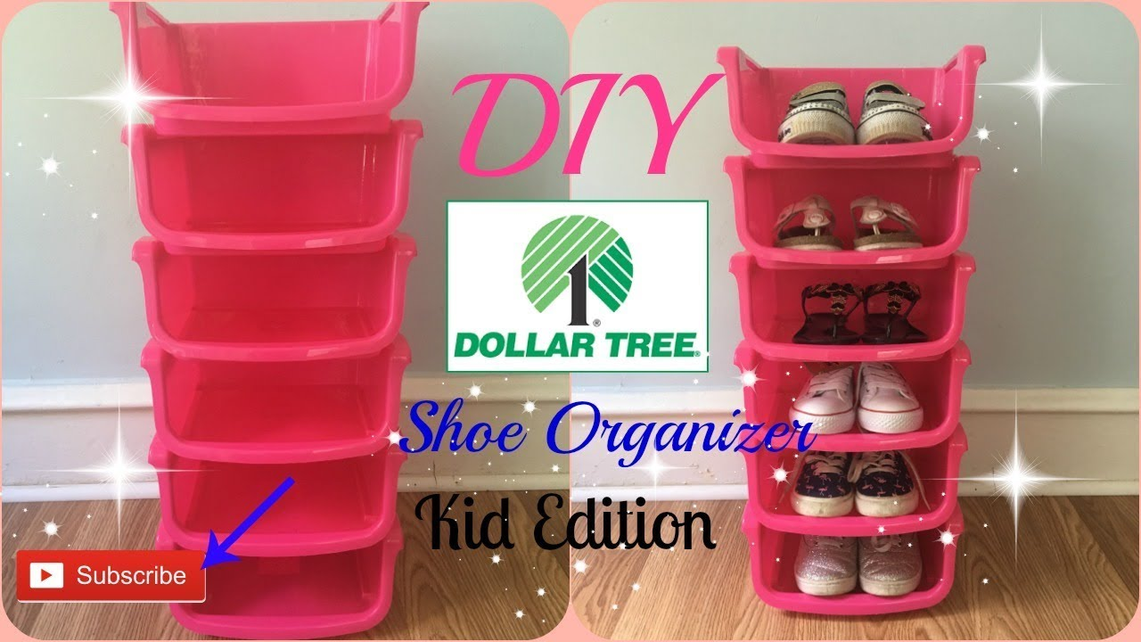 Diy Dollar Tree Shoe Organizer Kids Edition