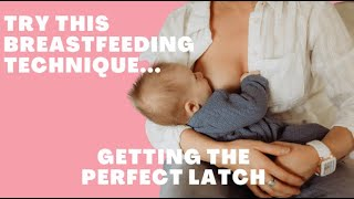 Helping Your Baby To Latch | How to Use Flipple/Breast Sandwich Technique