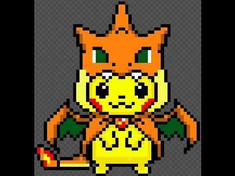 Pikachu Charizard Pixel Art L Pokemon L Jitox Youtube