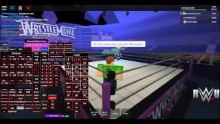 5th Roblox video triple threat match on RWU mania playing as my custom John cena