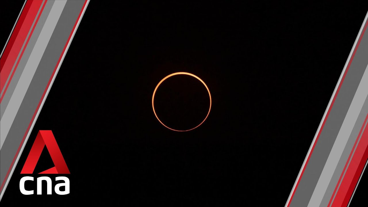 Crowds in Asia watch 'ring of fire' solar eclipse