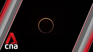 Annular solar eclipse: Watch the moment the ring of fire was formed