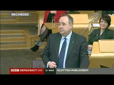 21/03/2013 Scottish Independence referendum date announced by Alex Salmond