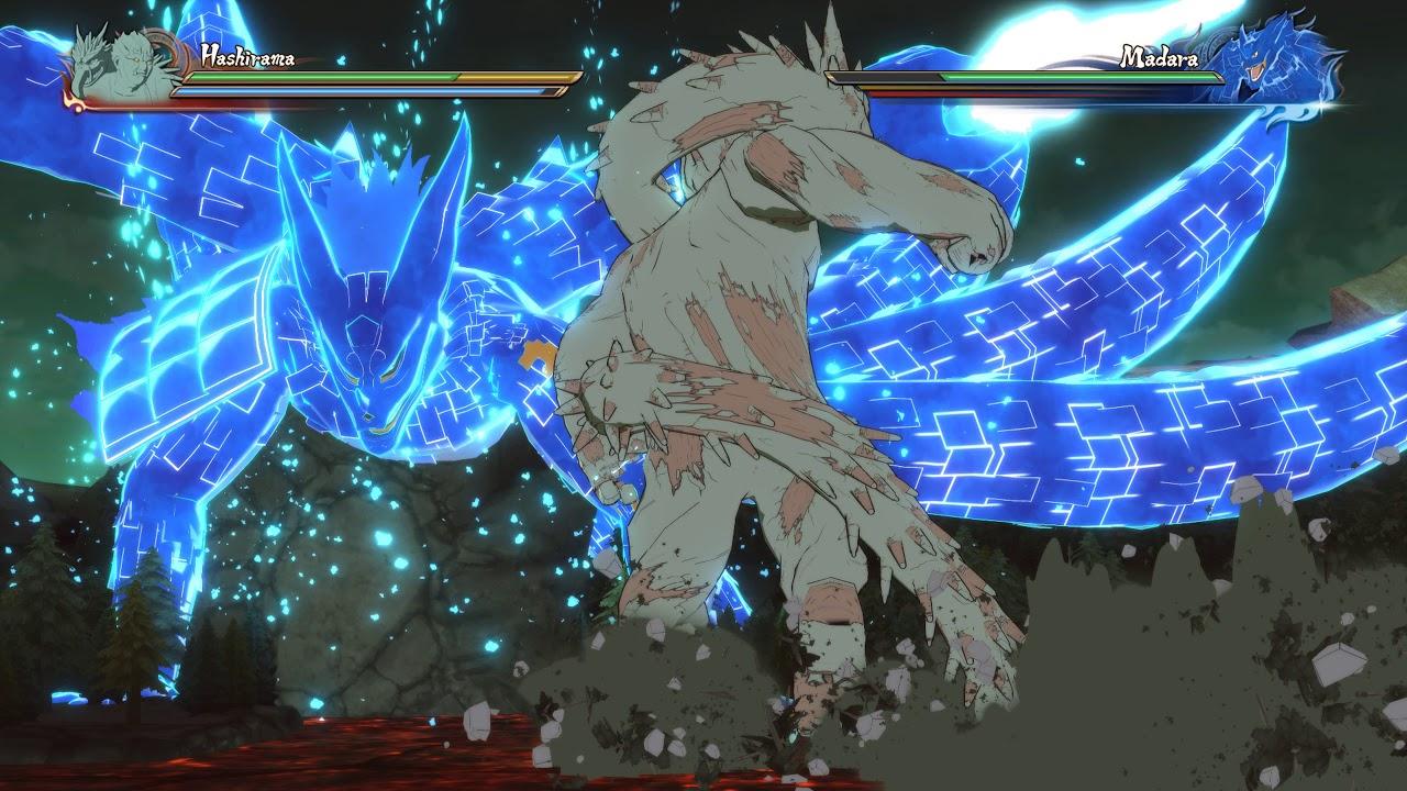 The Tailed Beast and Susano vs Wood Golem Jutsu - YouTube