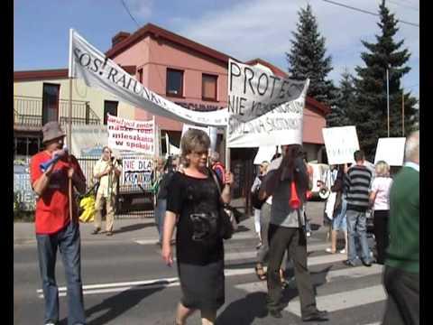 Protest w Skotnikach przeciwko spopielarni na Podgórkach Tynieckich