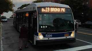 MTA NYC Bus 2012 NovaBus LFSA #5326 Bx19