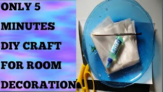 DIY 5 minutes craft II How to make a craft of waste materials for room decoration easy step by step