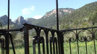 Mallorca. The wooden train from Palma to Sóller
