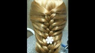 Вечерняя  прическа .  Hair Bow Tutorial Hairstyle for Long Hair(В этом видео я вам покажу как сделать прическу своими руками, очень быстро и красиво =) Музыка из видео: http://ww..., 2013-02-02T09:19:08.000Z)