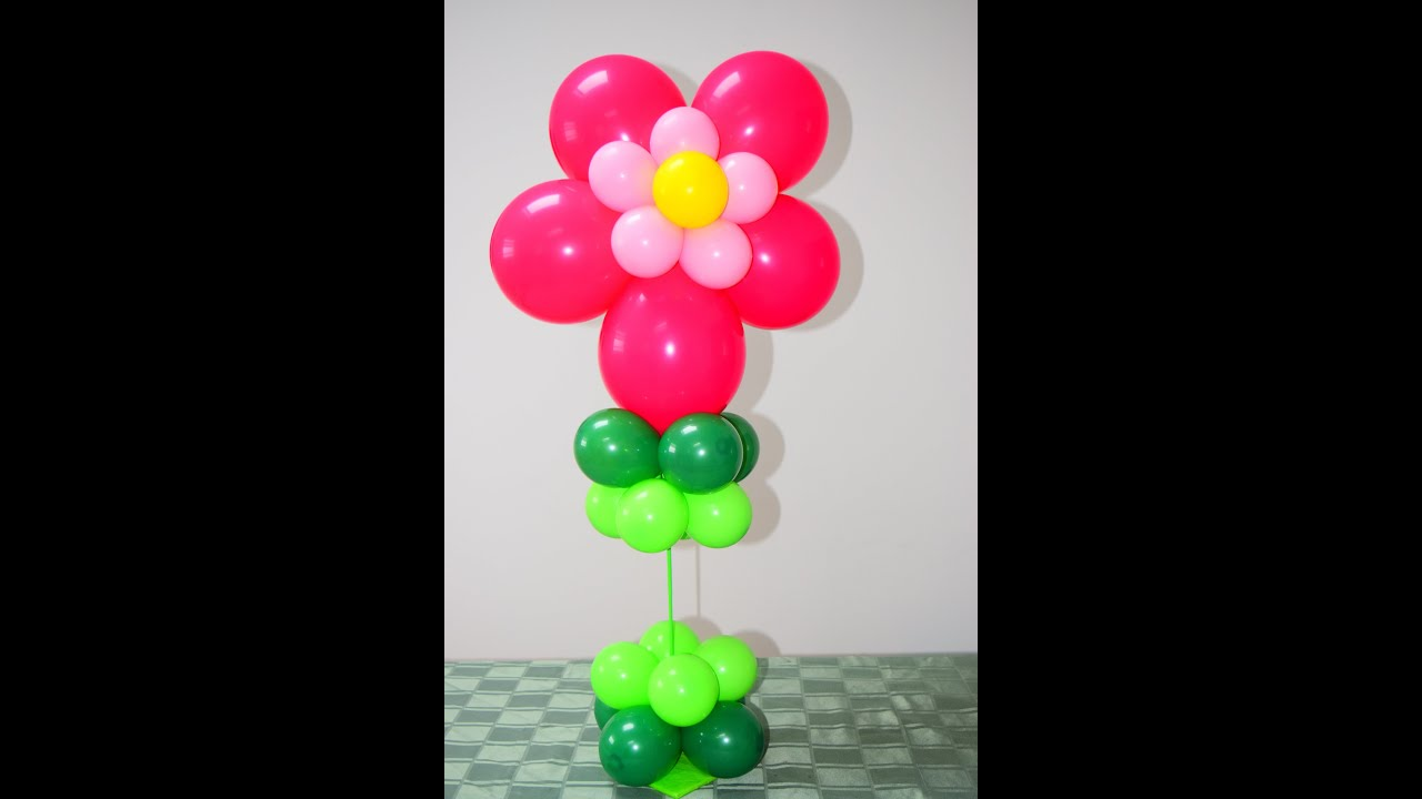Easy flower balloon tutorial how to make beautiful