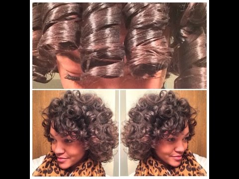 Large Perm Rod Set On Natural Hair YouTube