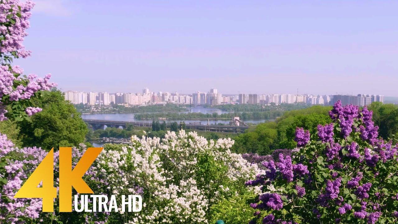 4K City Garden, Spring - 4K (Ultra HD) City Life