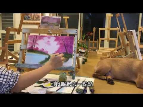 Painting Stage油畫教學— Cherry Blossom 春天的櫻花林
