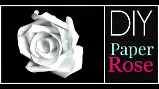 DIY: How to make a Paper Rose!