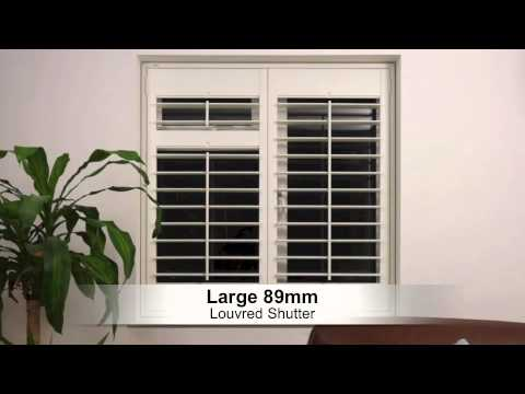 Choosing the right size louvre blade or slat for your interior plantation shutters or blinds - Choosing the right window size ...