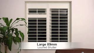 Choosing The Right Size Louvre Blade Or Slat For Your Interior Plantation Shutters Or Blinds