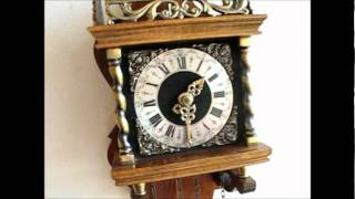 Beautiful Warmink 8 Day Nut Wood Zaanse Wall Clock For Sale On Ebay Uk.